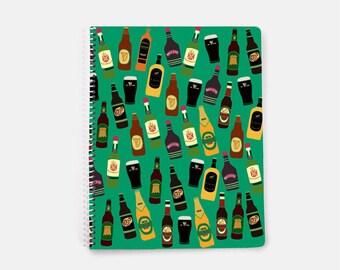 Funny Notebook, Irish Notebook, Irish Gifts, Bullet Journal Funny, Spiral Notebook, Ireland Notebook, Green Notebook, Lined Notebook,