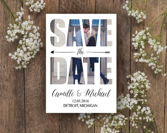 Wedding Save the Date | Printable Save the Date | Save Our Date | Photo Save the Date