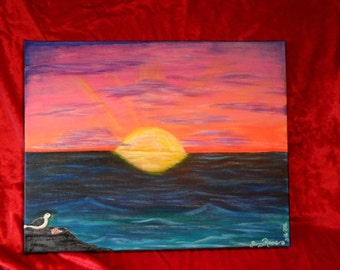 Sunset Serenity Painting by Sunny Rose
