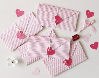 Set of 2 Valentines Day Card, Love Card, Valentine's Day, Card, Paper,Love, Romantic, Korea,Heart