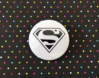 Superman Pin Button / Pin Buttons /Pin Badge
