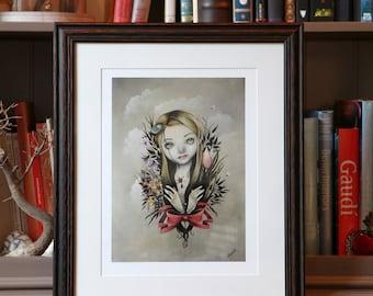 """daffodils portrait"" art print of Valérie Lenoir"