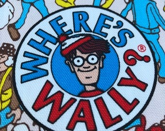Where's Wally Red White Fabric