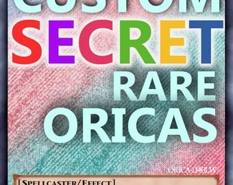Yugioh CUSTOM secret rare UNIQUE OriCa, Your picture, Your text, Great Quality