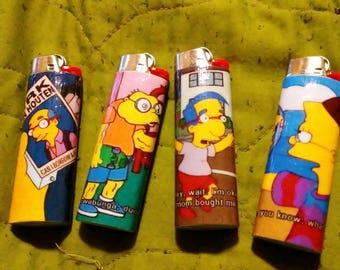 Simpsons screen cap lighters