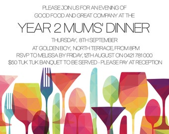Dinner And Drinks Invitation