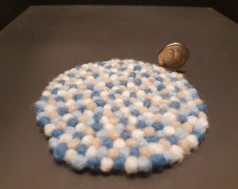 Miniature Felt Ball Rug 1:12 scale