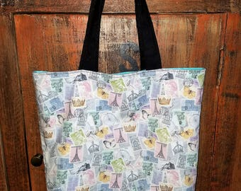 Handmade Paris Eiffel Tower Market Bag