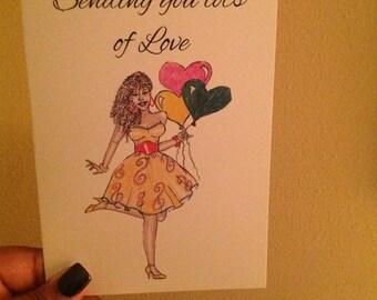 Sending you lots of love card.