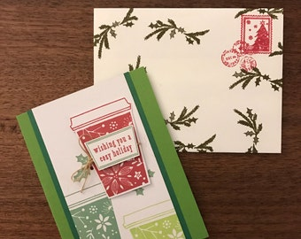 Christmas Cards | Holiday Card Set, Holiday Stationery - Cozy Coffee Christmas Card