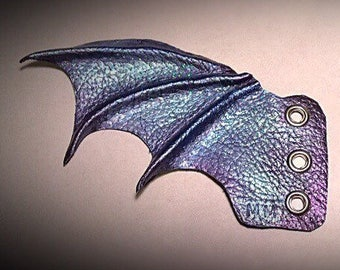 Fantasy handmade, moulded leather bat wings