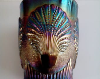 Carnival Glass Tumbler - Beaded Shell