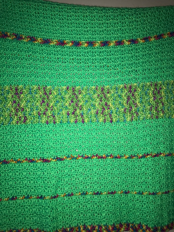 Bright Green Baby Afghan