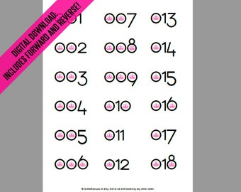 Paparazzi Jewelry | Live Sales | Regular AND Reverse, Mirror Image Numbers | Facebook | Online Printable Cards 1-180 | Digital Download