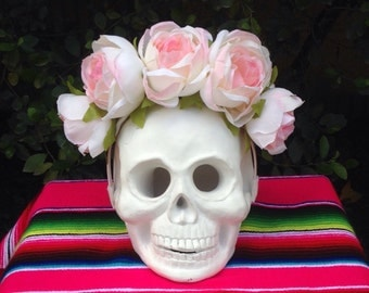 Mexican flower headband, Lana Del Rey flower crown, Frida flower headband, Day of the Dead crown, Frida flower crown, pink rose flower crown