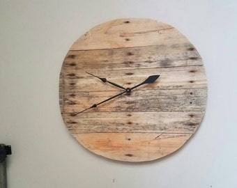 Wood Pallet Clock Rustic