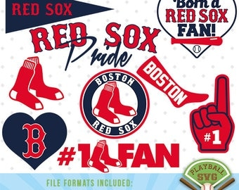 Boston Red Sox SVG files, baseball designs contains dxf, eps, svg, jpg, png and pdf files. PB-031