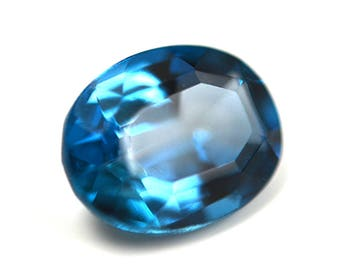 Oval London Blue Topaz 9x7mm 2.5CT Faceted Gemstone, Natural Loose Gemstone, London Blue Topaz Gem, December Birthstone,
