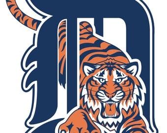 Detroit Tigers Logos Etsy