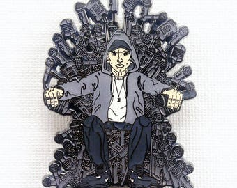 EMINEM Game of Microphones SnapBack pin