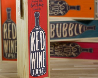 Red Wine Box-Happy Birthday (other titles available)