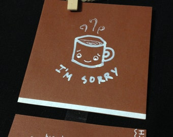 Mini Cocoa Greeting Card: I'm Sorry