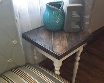 Reclaimed Farmhouse Side Table, Night Stand, Plant Stand, Rustic nightstand, Farmhouse side table, Accent table, Salvaged Wood,