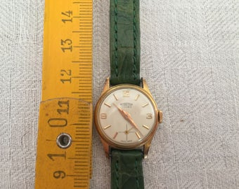 RARE HALOS WATCH micro swiss gold plated