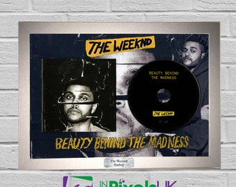 The Weeknd - Beauty Behind The Madness CD Frame Presentation Rare Custom Starboy Kissland Valentines Day