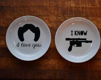 I love You / I know Ring Dishes