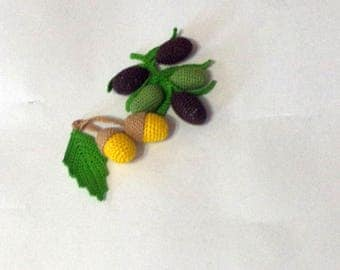 Crochet knit corn-2 Pcs-crochet play food-Crochet vegetables-Handmade toy-eco friendly crochet toy-kitchen decoration-hypoallergenic toy