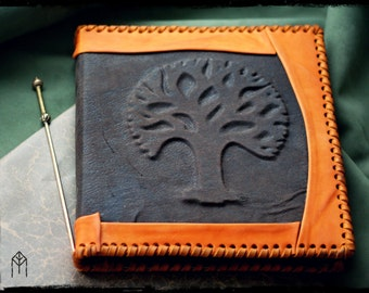 "Leather Notebook ""Tree of Peace"""