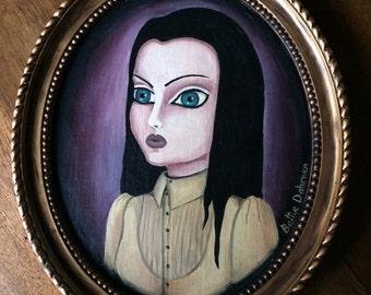 Portrait femme gothique lowbrow