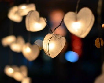 Heart lights, Fairy Lights, String Lights, Fairy lights bedroom, Indoor string lights, Hanging lights, LED Lights, Bedroom lights, Battery