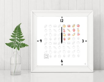 Decorative clock Time to lunch card