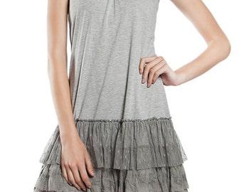 Slip Dress With Crochet Designed Back Straps