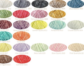 Ships Stonewashed crochet yarn (or knitting)/mix of colors possible