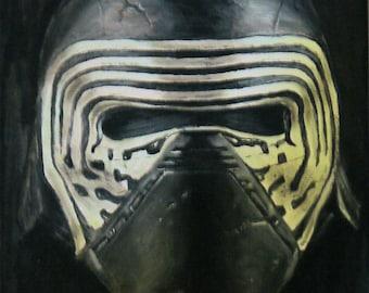 Star Wars Painting of Kylo Ren's mask - Glows in the dark - Starwars Art