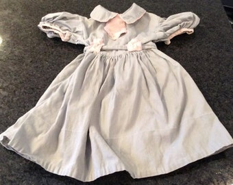 girls pink and gray dress vintage