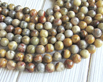 Crazy lace agate, 8mm beads, agate, crazy agate, agate beads, full strand, crazy lace agate, bracelet beads, jewelry supplies, 8mm beads