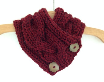Super Soft Hand Knitted Red Scarf