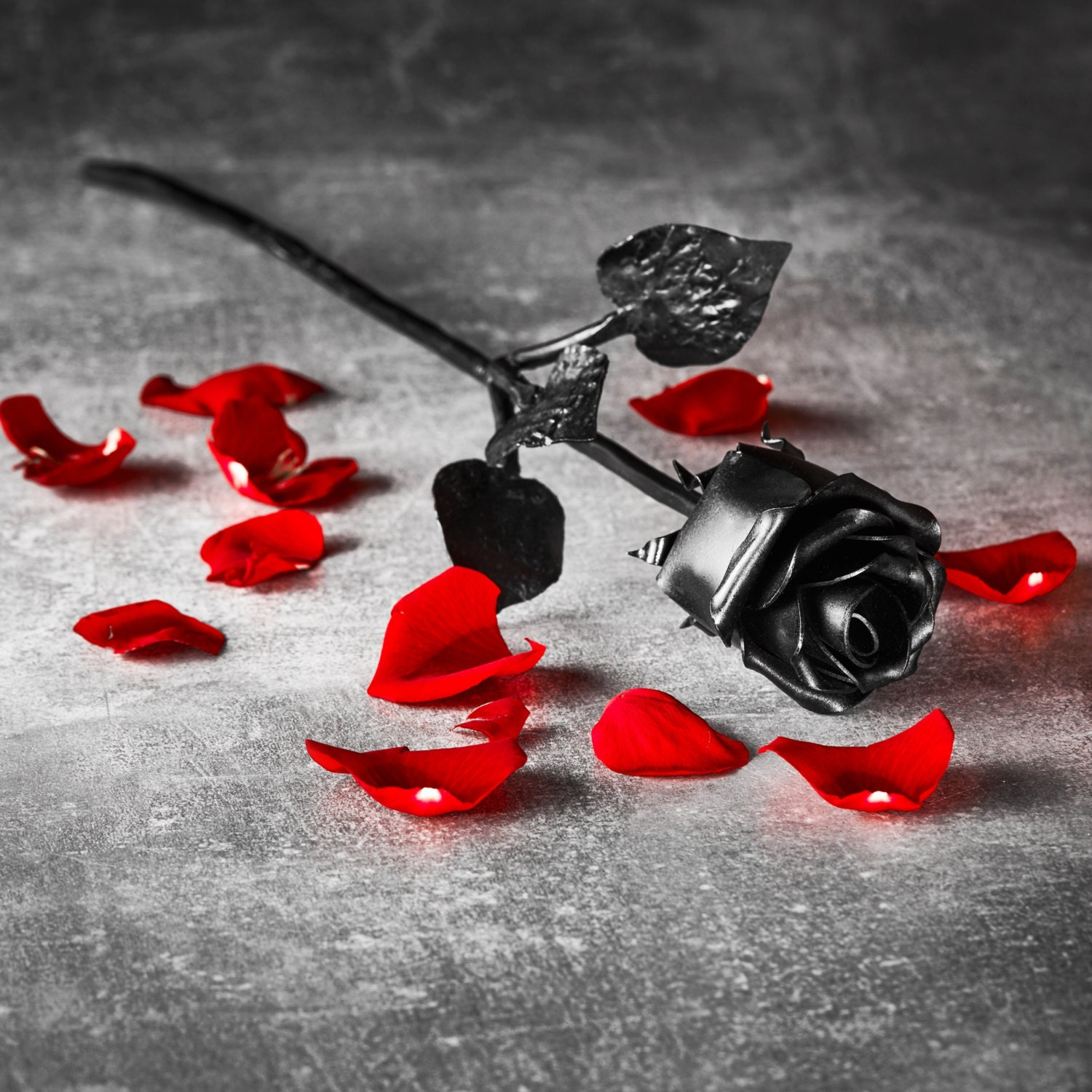 Iron Gifts For 6th Wedding Anniversary: Hand Forged Iron Rose 6th Anniversary Gift Everlasting Rose