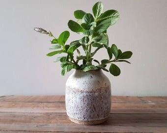 Rustic white vase