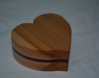 Handmade Heart Shaped Cherry Keepsake Box