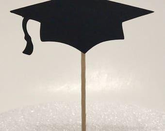 Graduation Cap Cupcake topper / Candy topper