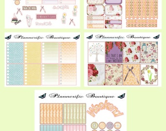 5 sheets of Mothers day week March weekly themed EC Vertical Planner stickers