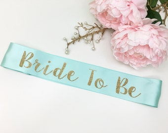 Bride To Be Sash, Glitter Sash, Bachelorette Sash / SP