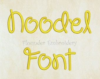 Noodel Embroidery Font 4 Size Embroidery Designs Fonts INSTANT DOWNLOAD