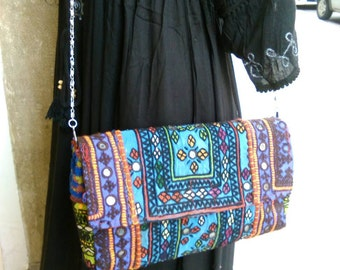 Handbags clutch ethnic tribal boho mirrors.