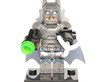 Batman Armored Custom Minifigure DC Comics Compatible With Lego Super Hero Blocks Bricks Building Toys